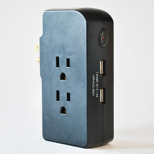 3 Outlet Surge Protector With 2 Built-In USB Chargers